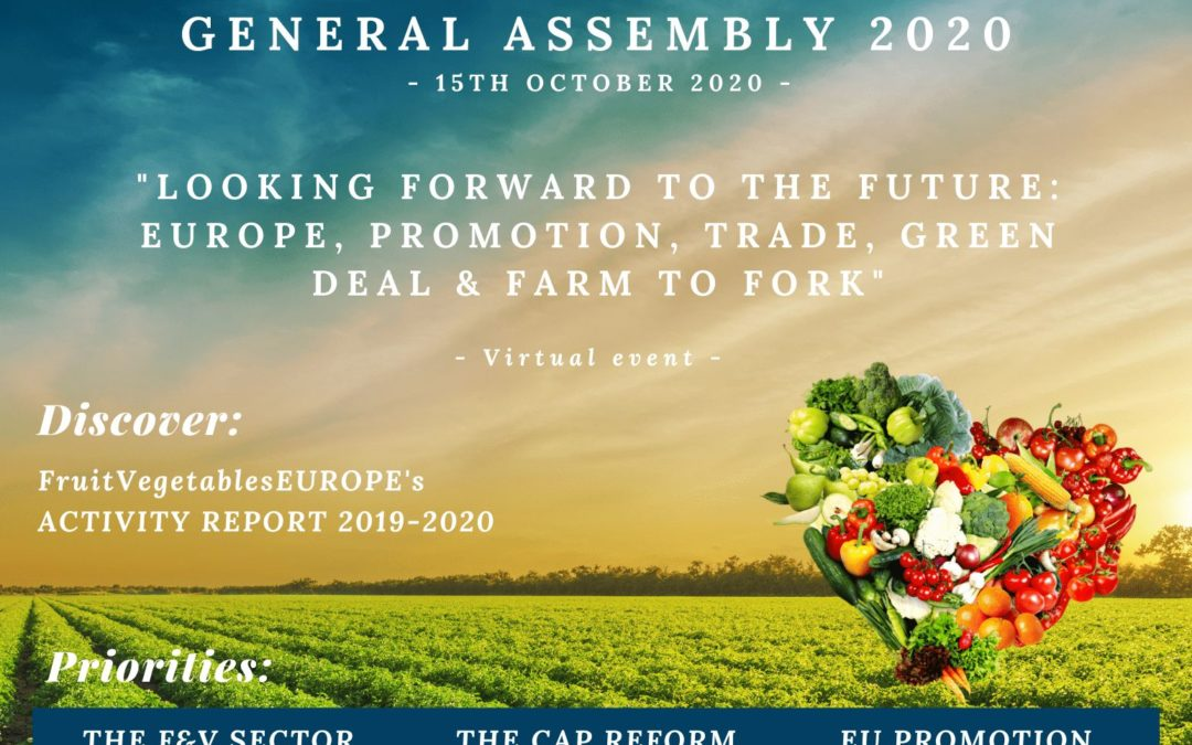 PRESS RELEASE FruitVegetablesEUROPE (EUCOFEL) hosts its annual General Assembly 2020virtually